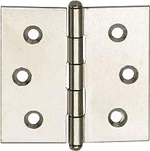 SECOTEC Scharnier recht | Meubelscharnier | 30x30 mm | Vernikkeld staal | 2 stuks