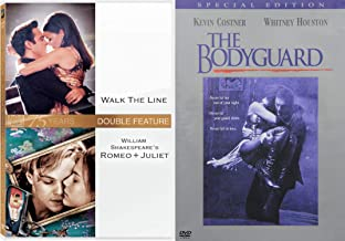 Music and Movies Collection 3-DVD Bundle - The Bodyguard, Walk the Line & William Shakespeare's Romeo + Juliet 3-Movie Set