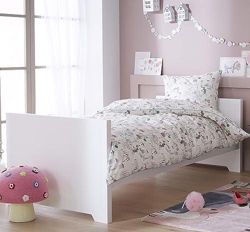 diseño simple y generoso Alfrojo & Compagnie Pack Cama blanco + somier somier somier Charline  promociones de descuento