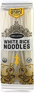 Nature's Greatest Foods, Organic Gluten Free White Rice Noodles, Pad Thai, Vegan, 7.7oz (Pack of 12)