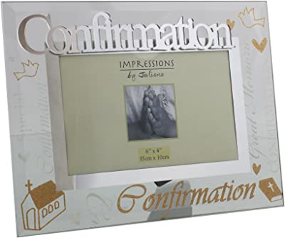 Juliana Confirmation Mirrored Words Photo Frame Lovely Celebration Gift