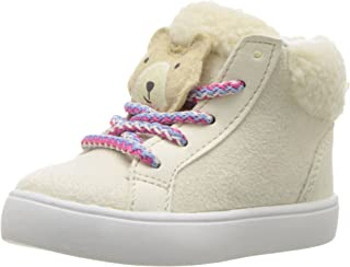 Carter's Girls' Carte's Sydney3 Novelty High-Top Casual Sneaker, Ivory, 7 M US Toddler