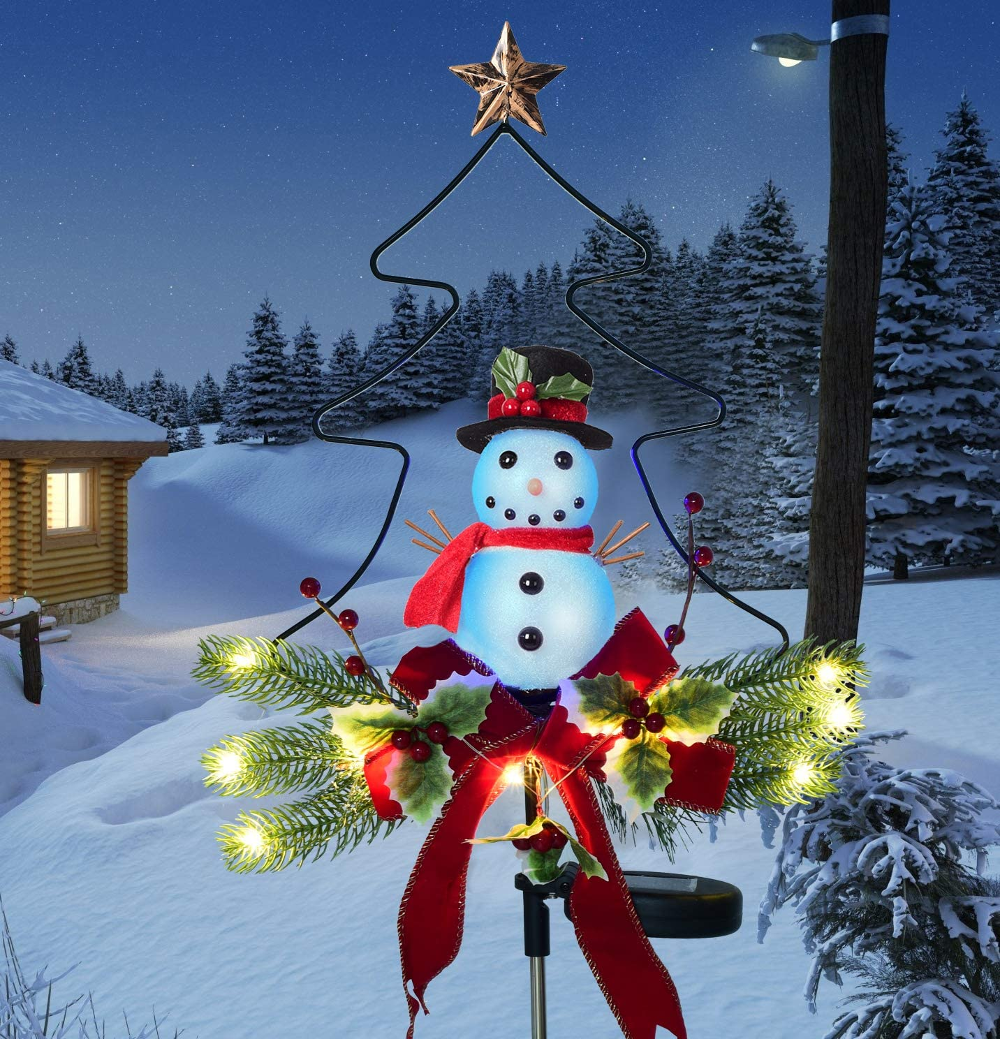 shop Doingart Outdoor New item Solar Light Christmas Chri Decorations Snowman