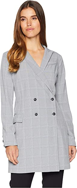 Celeste Woven Plaid Blazer Dress