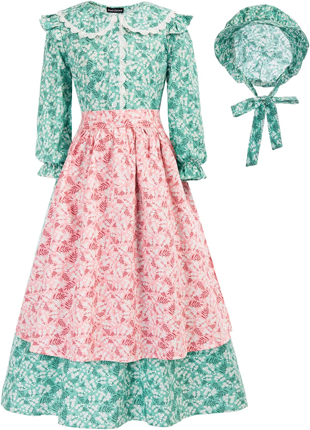 Scarlet Darkness Girls Pioneer Colonial Safety Ranking TOP3 and trust Dr Prairie Costume Dress