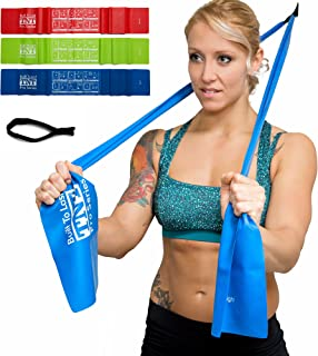 TNT Pro Series Exercise Stretch Bands Resistance Set Heavy Duty Door Anchor Included