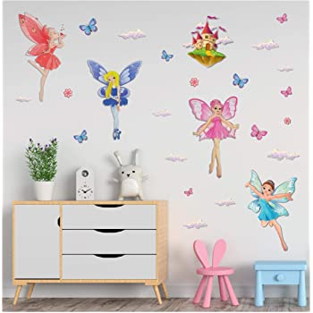 Dragonflies 6 Gorgeous Pastel  3D Wall Decals Girls Bedroom 3D Decorations NEW