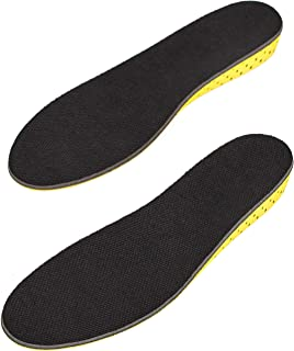 Height Increase Insole - Elevator Shoe Conversion - 1 Inches Taller (Black) Invisible Increased Heel Lifting Inserts Shoe Lifts Shoe Pads (Large US 8-13 Men or US 10-15 Women)