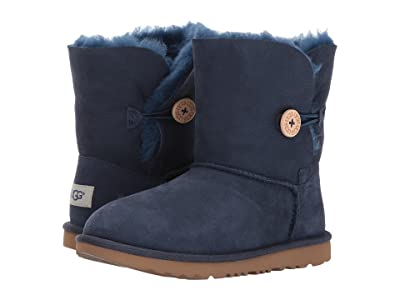 UGG Kids Bailey Button II (Little Kid/Big Kid) (Navy) Girls Shoes