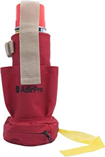 AdirPro 770-02 Spray Can Holster & Flag Tape Dispenser with Pockets, Belt Loop & Belt Clip