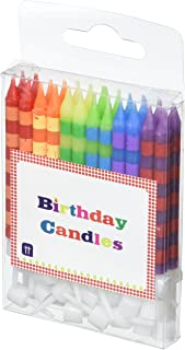 Talking Tables HB Birthday Cake Striped Candles, Multi