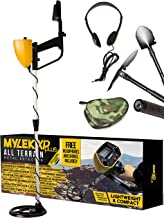 MYLEK MYMD1062 Metal Detector Complete with Bag, Headphones, Shovel & Pick/Compass Tool Kit for Kids & Adults, Yellow and Black