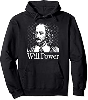 Will Power Shakespeare Hoodie Playwright Theatre Gift