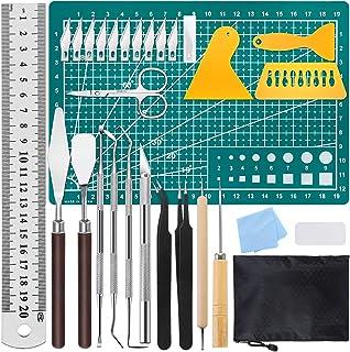 29 PCS Precision Craft Tools Set Vinyls Weeding Tools Kit Basic Set Tweezers Weeders Sc Spatula for DIY Weeding Vinyls Cam...