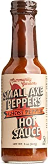Small Axe Peppers Ghost Pepper Hot Sauce, 5 oz- All Natural, Kosher, non-GMO, Community Garden Grown Ghost Pepper Gourmet Hot Sauce, Featured on HOT ONES!