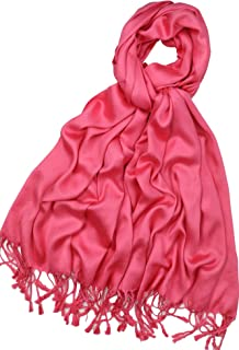 Achillea Super Soft Luxurious Premium Pashmina Shawl Wrap Scarf in Solid Colors