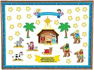 Fun Express - Nativity Bulletin Board Set for Christmas - Educational - Classroom Decorations - Bulletin Board Decor - Christmas - 150 Pieces
