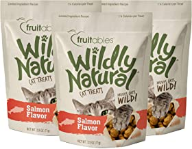 product image for Fruitables Wildly Natural 2.5 Ounce Grain Free Salmon Treats for Cats Pack of 3