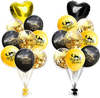 BinaryABC Eid Ramadan Kareem Latex Balloons Heart Mylar Balloons Confetti Balloon,Eid Decorations,18Pcs