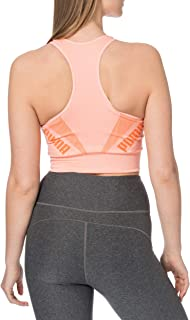 PUMA Women's Evostripe Evoknit Bra Top Sports, Apricot Blush, XS