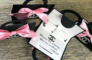 09d237a942f384 Lip Balm Holder Favor Bags Little Fashionista, Black & White - Set of 10 -