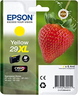 Epson Original 29XL Tinte Erdbeere, XP 235 XP 332 XP 335 XP 432 XP 435 XP 245 XP 342 XP 345 XP 442 XP 445 XP 247 XP 257 XP 255 XP 352 XP 355 XP 452 XP 455, (gelb)