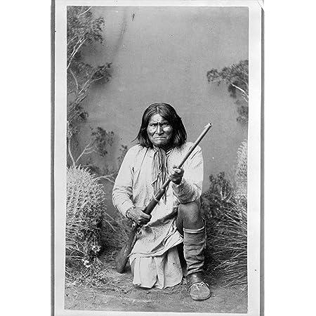 "Geronimo Photograph - Historical Artwork from 1886 - (4"" x 6"") - Semi-Gloss"