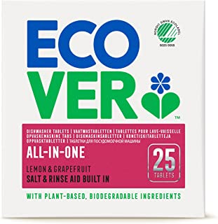 Ecover All-In-One , lemon and grape fruit , 25 Diswasher Tablets (Pack of 2)