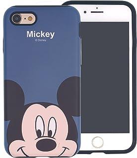 iPhone 8 / iPhone 7 Case, DISNEY Cute Mickey Mouse Layered Hybrid [TPU + PC] Bumper Cover [Shock Absorption] for iPhone8 / iPhone7 (4.7inch) - Look Mickey Mouse