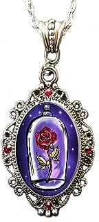 Alkemie & Artistry 'Beauty & The Beast Rose' Sparkles Necklace