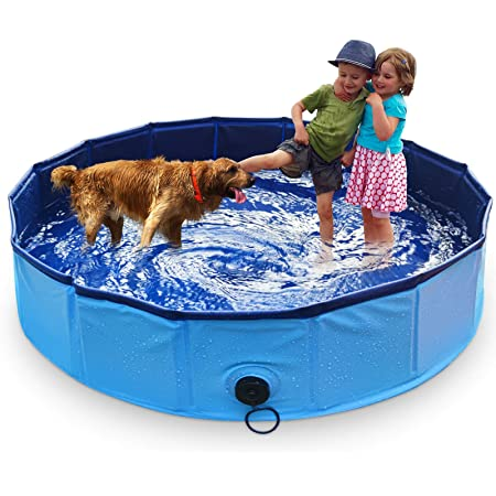 Marunda Foldable Dog Pool Pet Swimming Pool For Dog Pools For Large Dogs 63 X 12 Inch For Slip Resistant Material Kids Pool Pet Supplies