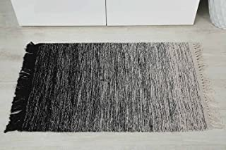 Pan Emirates Morin Dhurrie With Fringes, Black - 60x90cm