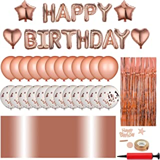 Sheety DUMAH Rose Gold Birthday Party Decoration