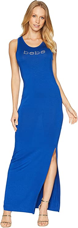 Bebe Logo Slit Maxi Dress