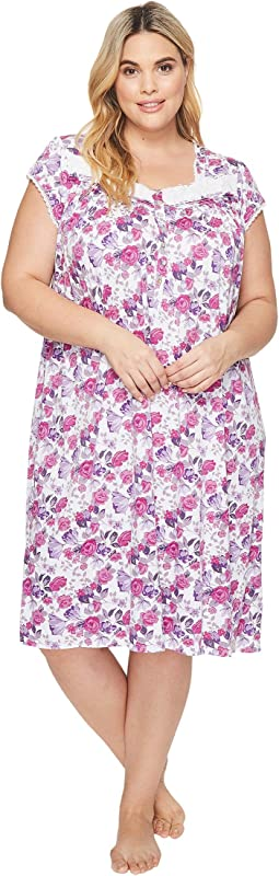 Eileen West - Plus Size Cotton Modal Waltz Nightgown