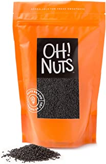 Oh! Nuts Black Sesame Seeds for Nutritious Dishes, Teas & Seasonings | All-Natural Kosher Quality | Baking, Cooking & Heal...