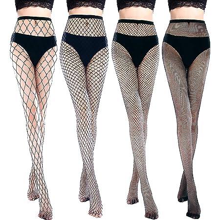 Women Crystal Rhinestone Fishnet Net Mesh Socks Stockings Tights Pantyhose^ng