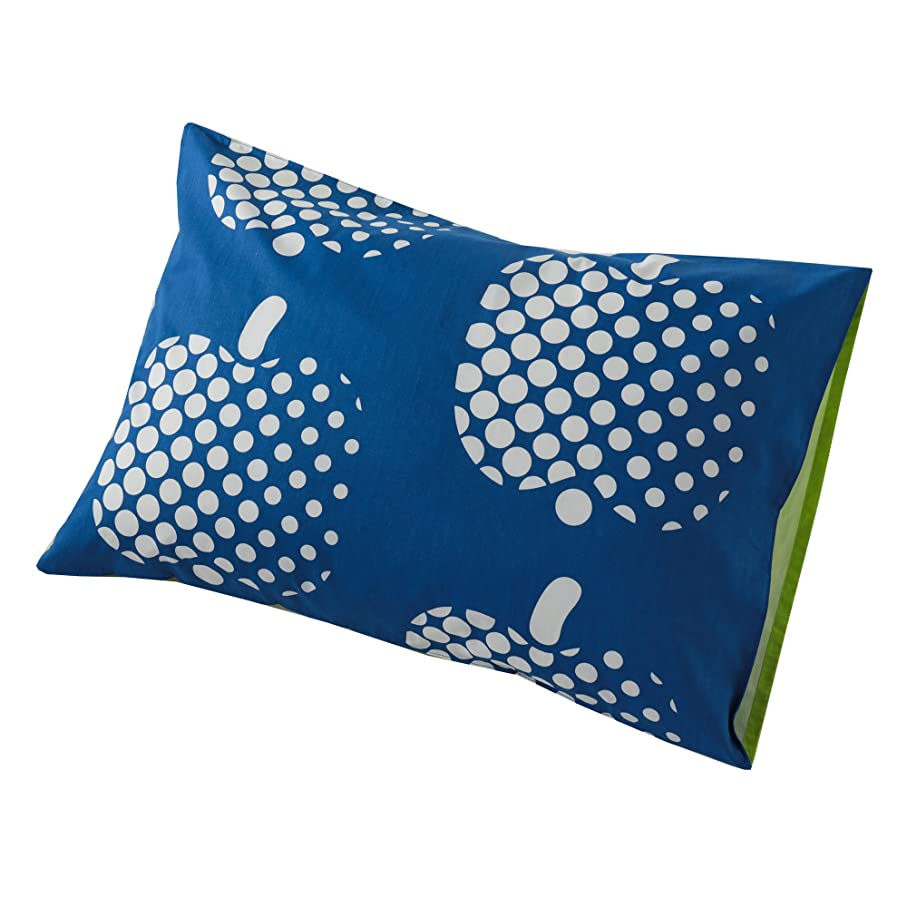 明示的にインチ知り合いになる東京西川 枕カバー 63X43cmのサイズの枕に対応 フィンレイソン オプティネンオメナ(リンゴ)柄 綿100% ブルー PJ08130676B