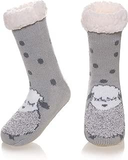 Kids Boys Girls Warm Slipper Socks Cute Animal Soft Thicken Winter Thermal Fleece Fuzzy Non-Skid Children Home Socks