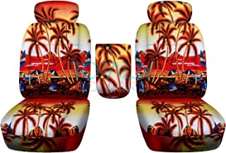 Totally Covers compatible with 2001-2003 Ford F-150 Hawaiian Truck Bucket Seat Covers with Center Armrest, Adjustable Head...