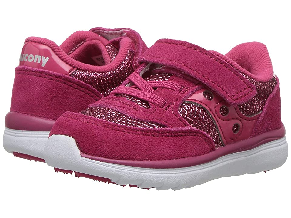 Saucony Kids Originals Jazz Lite (Toddler/Little Kid) (Berry Sparkle) Girls Shoes