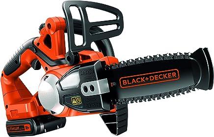BLACK+DECKER GKC1820L20-QW - Motosierra 18V con batería litio de 2Ah, espada de 20 cm