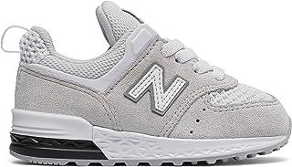 (ニューバランス) New Balance 靴?シューズ キッズランニング 574 Sport White with Grey ホワイト グレー US 10 (17cm)