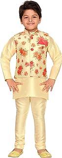 AJ Dezines Kids Indian Wear Bollywood Style Kurta Pyjama Waistcoat للبنين