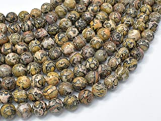 Bead Jewelry Making Art Craft Leopard Skin Jasper Beads, Round, 8mm, 16 Inch, A Quality