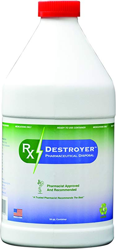 C2R Global Manufacturing RX64 Rx Destroyer Disposal System Bottle Pack Of4