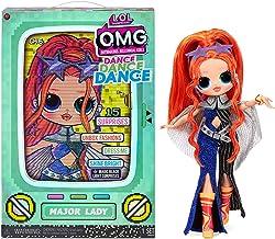 LOL Surprise OMG Dance Dance Dance Major Lady Fashion Doll with 15 Surprises Including Magic Black Light, Shoes, Hair Brus...