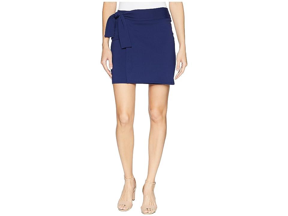 Susana Monaco Tie Mini Skirt (Deep Sea) Women