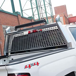 ARIES 1110201 AdvantEDGE Chrome Aluminum Truck Headache Rack Cab Protector for Select Dodge, Ram 1500, 2500, 3500