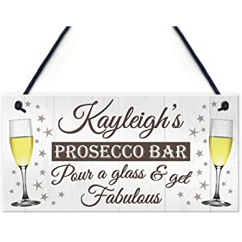 Personalised Prosecco Princess VINTAGE ENAMEL METAL TIN SIGN WALL PLAQUE